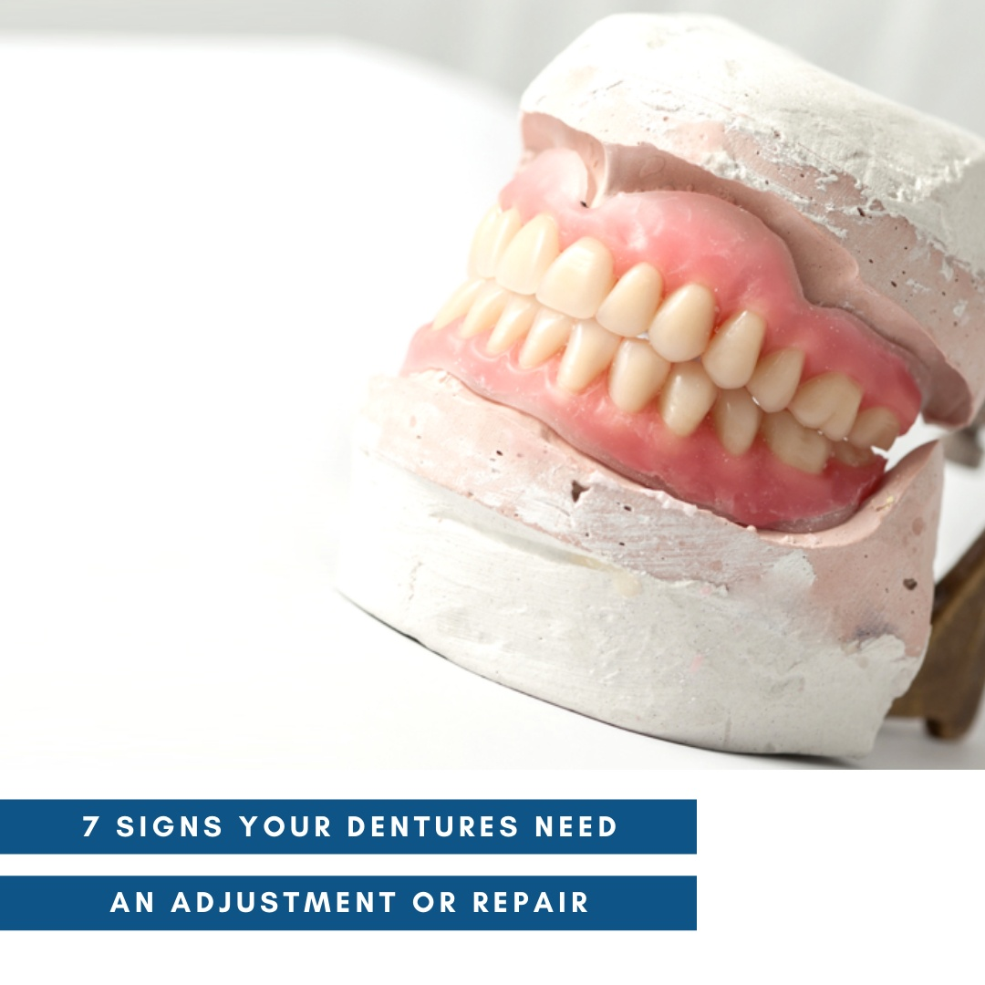 Signs that your dentures need an adjustment or repair