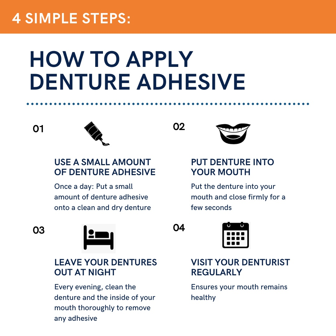 how to apply denture adhesive calgary denture clinic dentures calgary