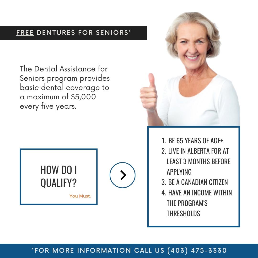 Alberta Seniors Program YYC Denture Clinic Calgary Free Dentures for Seniors